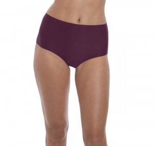 Figi Wysokie Fantasie One Size Invisible Stretch Bordowe